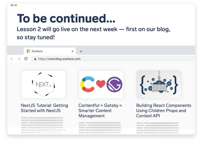 a mockup web page of our blog at blog.soshace.com
