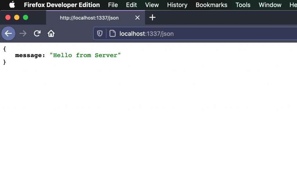 JSON response from Web Server