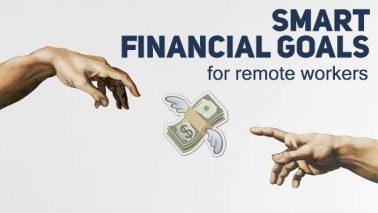 artwork depicting stylized money icons