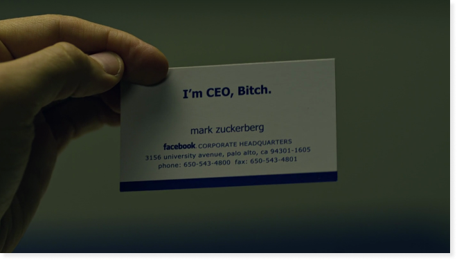 Mark Zuckerberg's first business card. Retrieved from TechCrunch