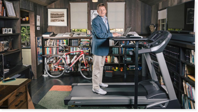 Michael Lewis in his writing study by Peter Plato /New York Times. Retrieved from the Times.