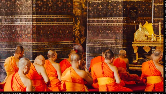 Thai Monks -- Thai Attitude to Life and Work