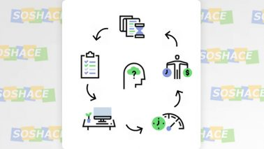 artwork depicting various work-life-balance icons