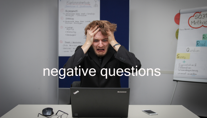 Strategy for answering negative behavioral questions