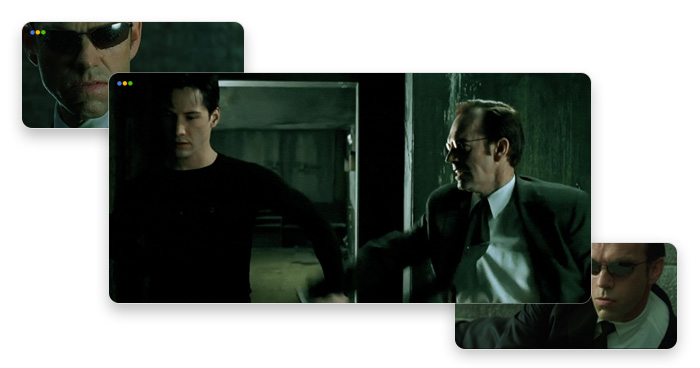 artwork depicting Neo from the Matrix movie