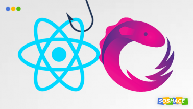 artwork depicting React and RxJS logo with a hook
