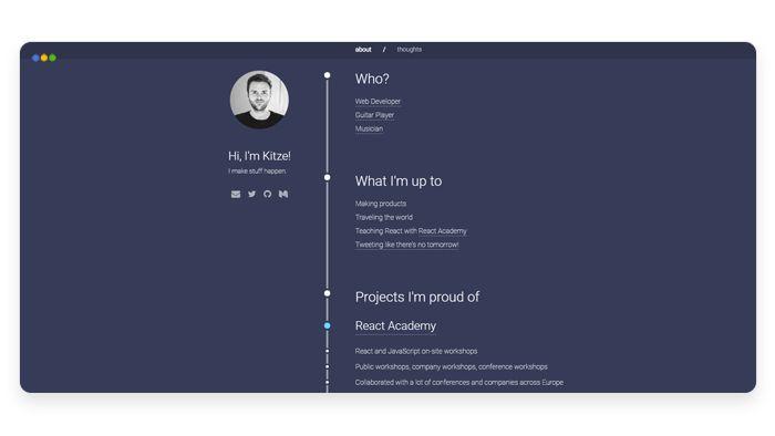 screenshot depicting the portfolio of Kristijan Ristovski