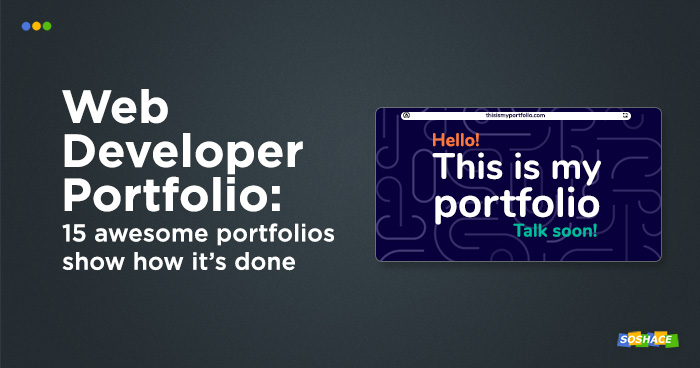 artwork depicting a mockup web developer portfolio