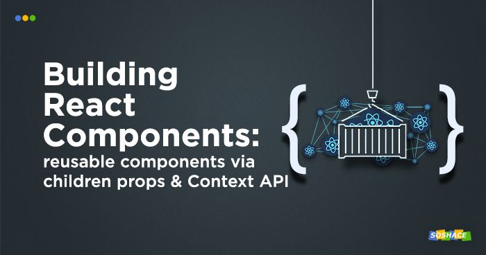 artwork depicting stylized React components