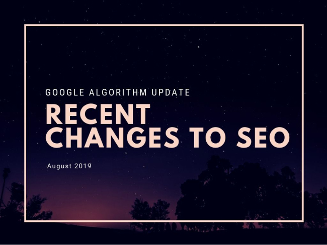 Google Algorithm Update Recent Changes to SEO