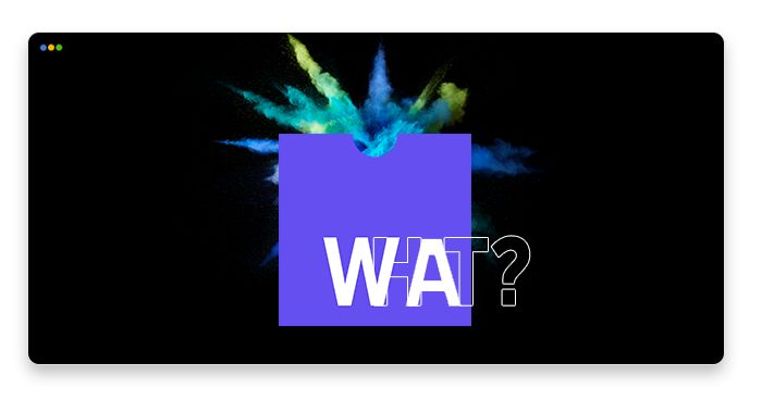 artwork depicting the WebAssembly logo and a colorful splash