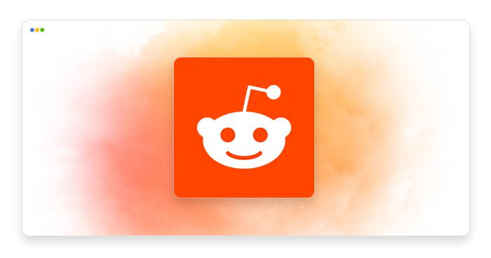 artwork depicting a stylized reddit logo