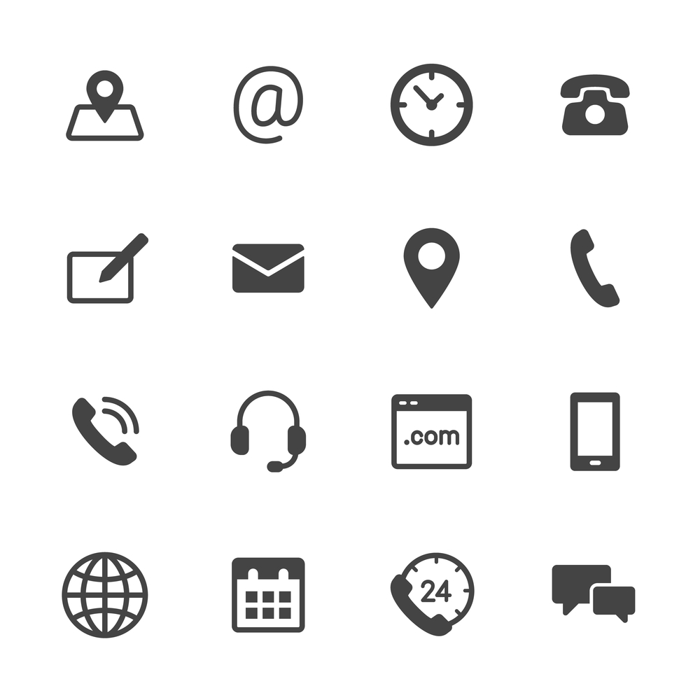 Standard Website Icons