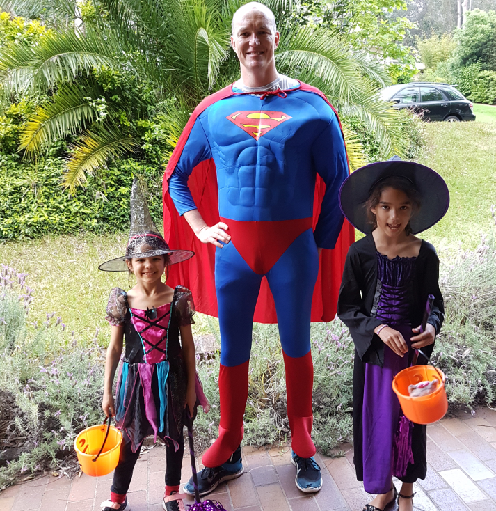Tim is a superman, and not only on Halloween