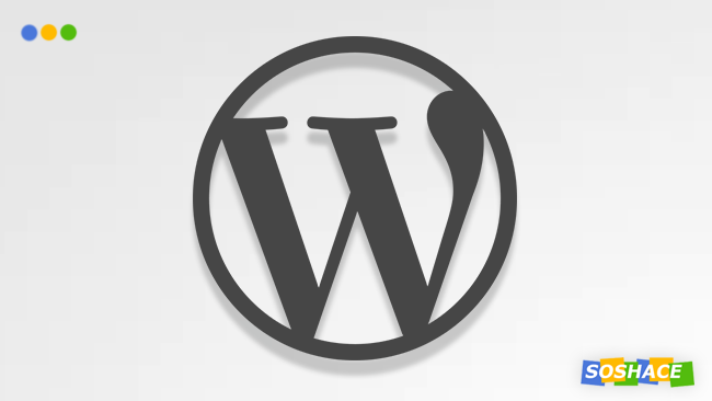 artwork depicting a stylized WordPress logo
