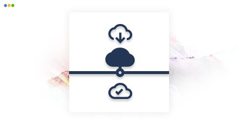 artwork depicting various cloud infrastructure-related icons