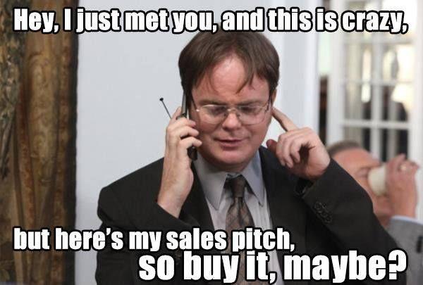 Sales Pitch meme