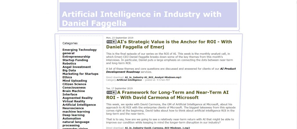 Artificial Intelligence in Industry Podcast