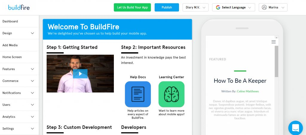 Buildfire Features 2