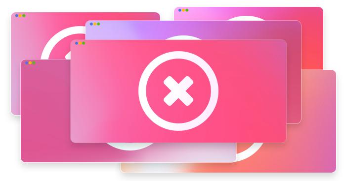 artwork depicting stylized error messages