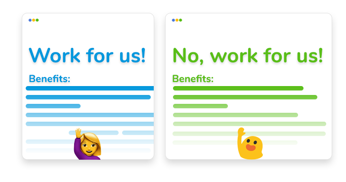 artwork depicting stylized job postings for freelance programmers
