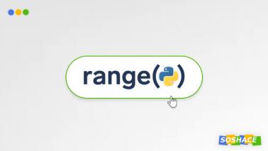 artwork depicting a stylized Python range() button