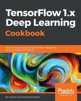 TensorFlow Deep Learning Cookbook by Antonio Gulli