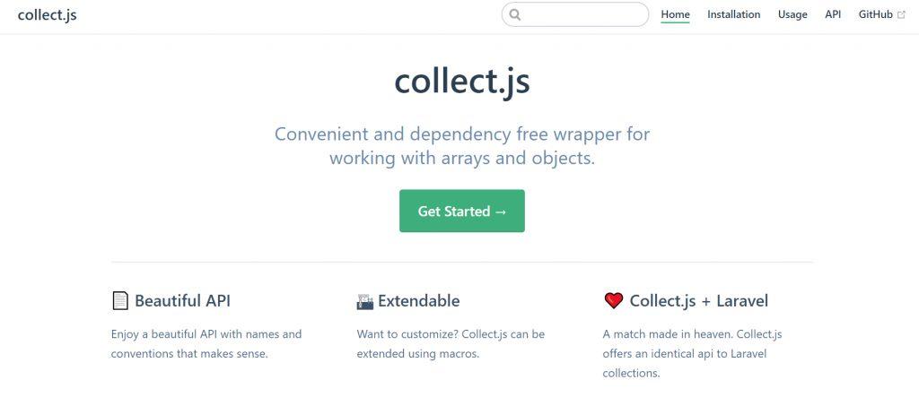 CollectJS screenshot