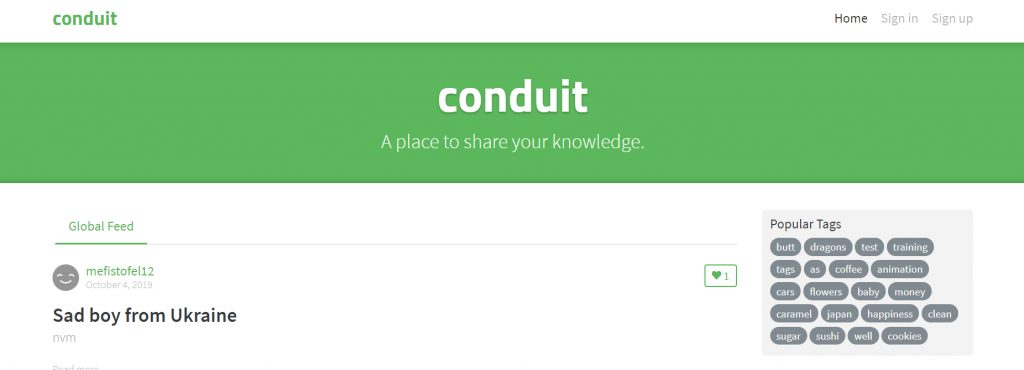 Conduit RealWorld