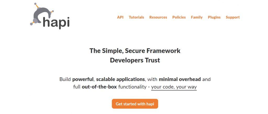 Hapi Site Screenshot