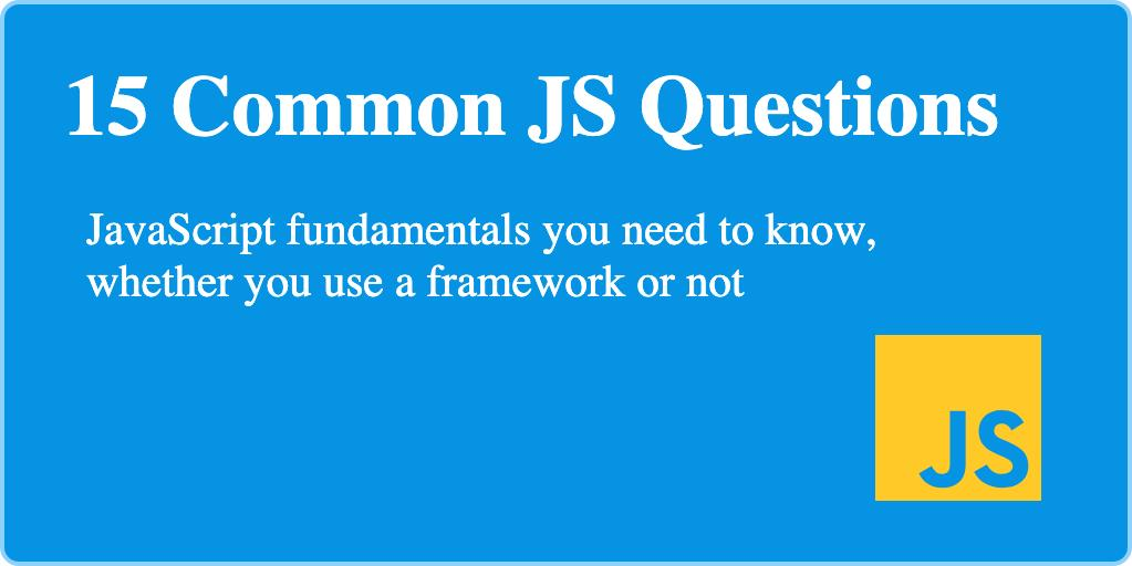 JS Common Questions