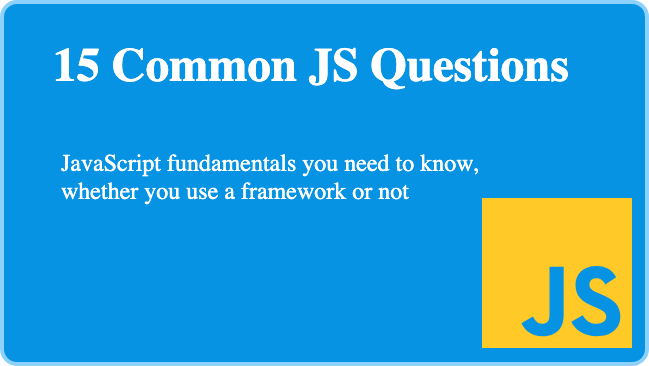 JS Common Questions