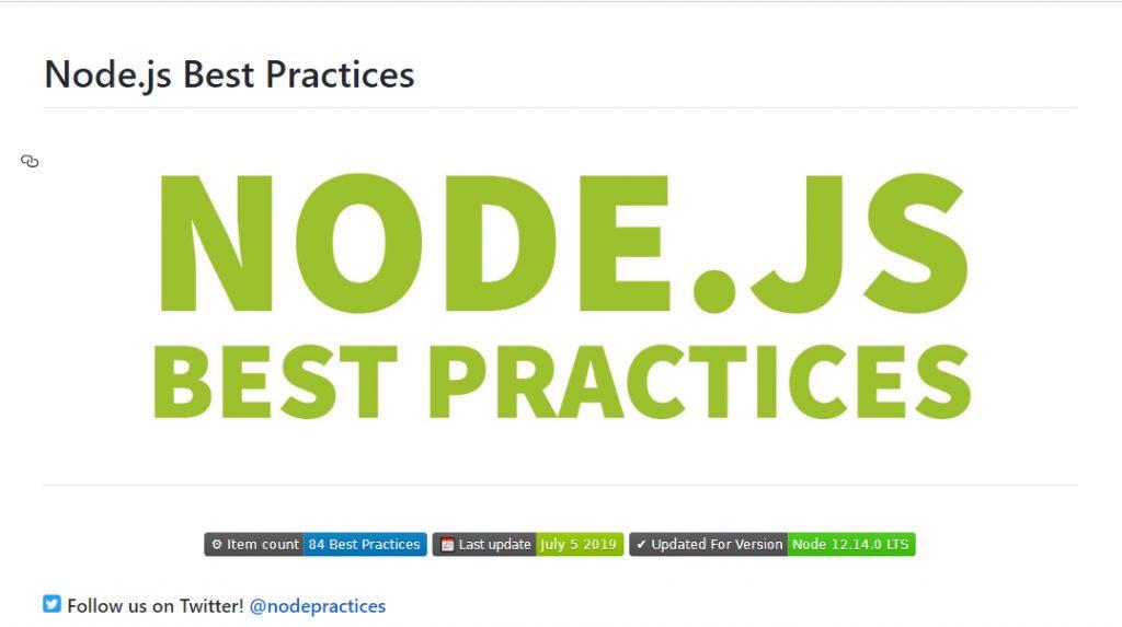 NodeJS Best Practices
