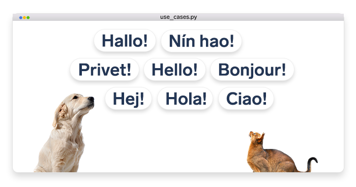 """artwork depicting """"Hello!"""" messages in different languages"""