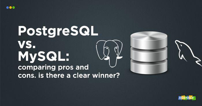 stylized logos of PostreSQL and MySQL