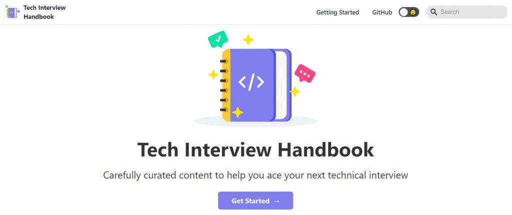 Tech Interview Handbook Repo