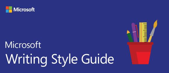 Microsoft Style Guide