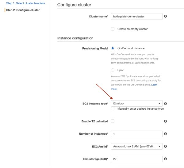 Configuring clusters