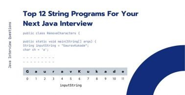 Top 12 String Programs For Your Next Java Interview