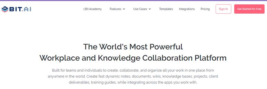 Bit.ai (document collaboration tool)