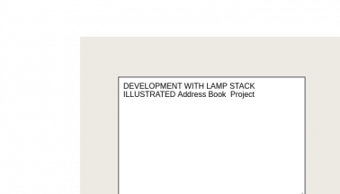 Development With LAMP Stack Illustrated Address Book Project