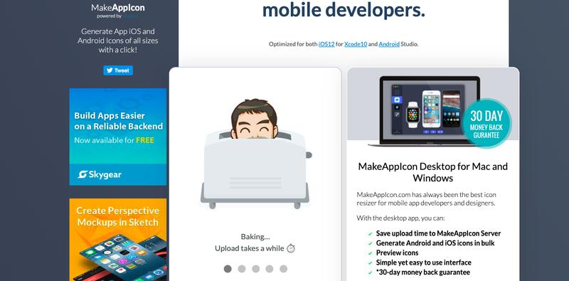 Make app icon site