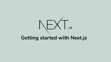 Getting started with Next.js