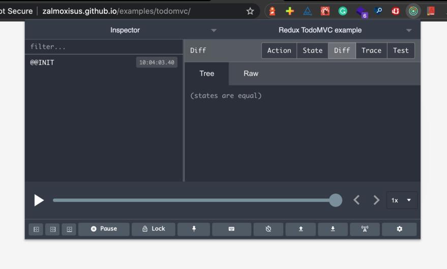 Screenshot of the Redux DevTools