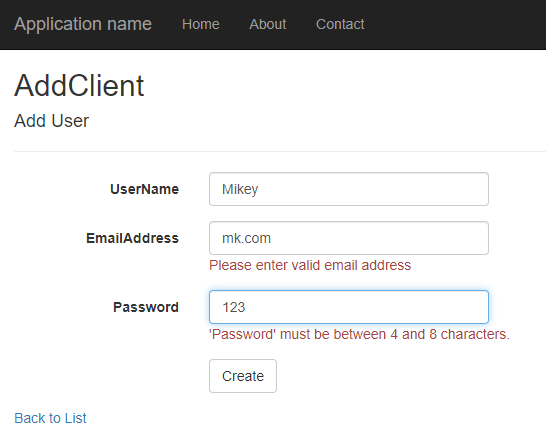 Email, and Password Validation