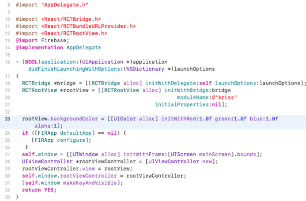 Xcode appdelegate