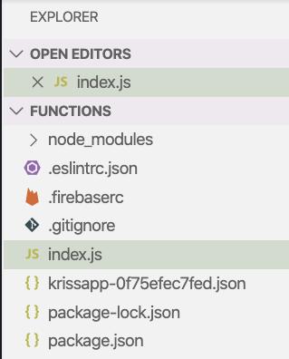 Firebase CLI project