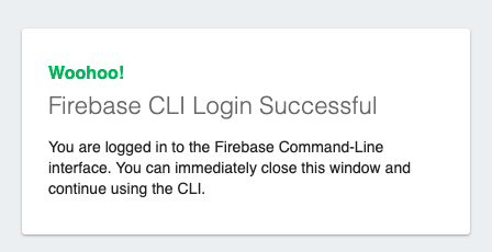 Successfully authenticate to Firebase