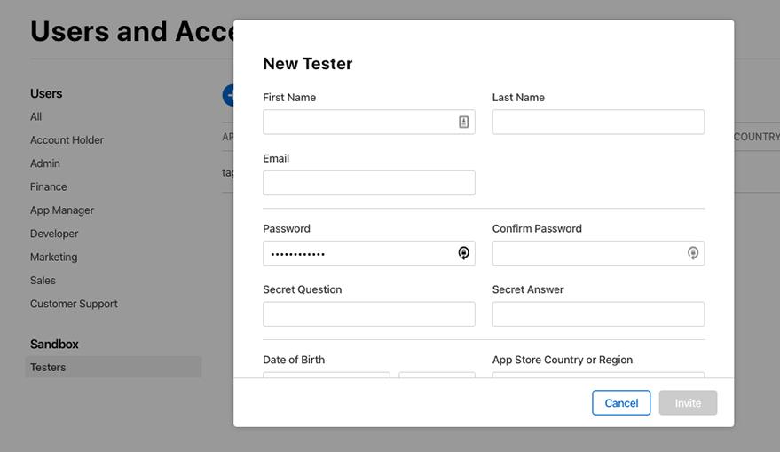 Add tester detail