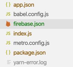 Firebase JSON location